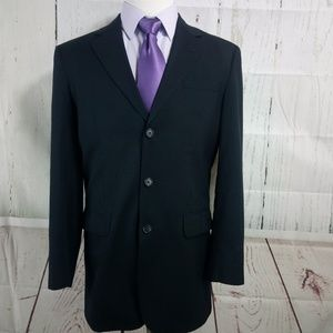 Jos A Bank 40L 3 Button Black Suit Blazer Sports C